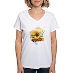 Stoked - Women's V-Neck T-Shirt
