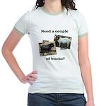 Need A Couple of Bucks Jr. Ringer T-Shirt