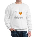 I Heart Dipping Sauces Sweatshirt