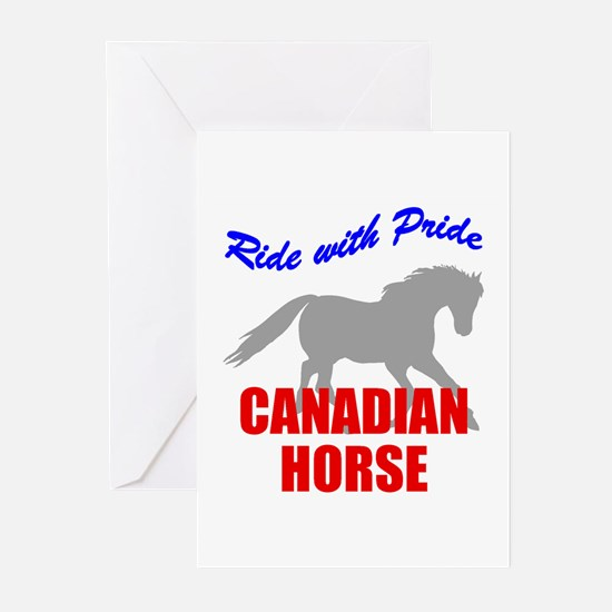 Ride With Pride Canadian Horse Greeting Cards (Pac