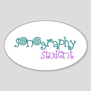 Sonographer Sticker (Oval)