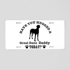 Great Dane Daddy Aluminum License Plate