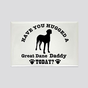 Great Dane Daddy Rectangle Magnet