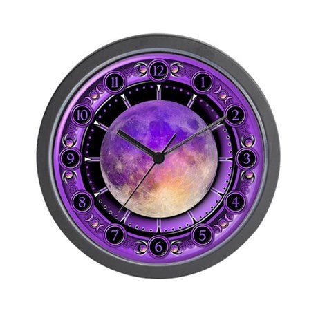 Clock of the Purple Moon Wall Clock