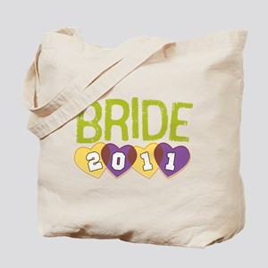 Green Bride 2011 Hearts Tote Bag