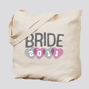 Gray Pink Bride 2011 Tote Bag