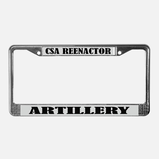 Civil War Reenactor Artillery License Frame