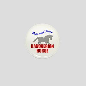 Ride With Pride Hanoverian Horse Mini Button