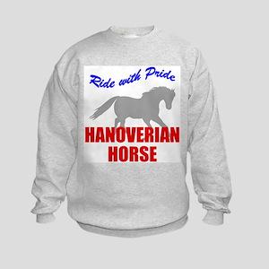Ride With Pride Hanoverian Horse Kids Sweatshirt