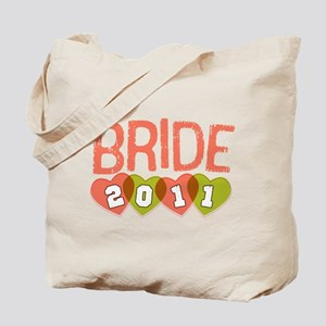 2011 Peach & Green Bride Tote Bag