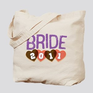 Brown Purple Bride 2011 Tote Bag