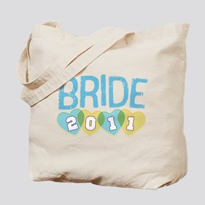 2011 Blue & Yellow Bride Tote Bag