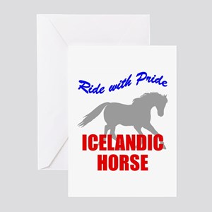 Ride With Pride Icelandic Horse Greeting Cards (Pa