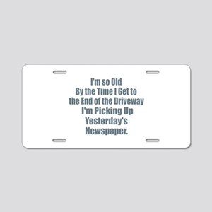 Old - Yesterdays NewspaperY Aluminum License Plate