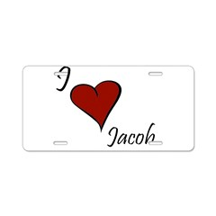 I love Jacob Aluminum License Plate