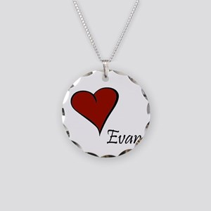I love Evan Necklace Circle Charm