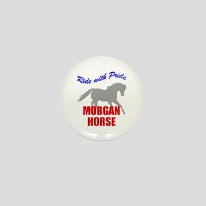 Ride With Pride Morgan Horse Mini Button