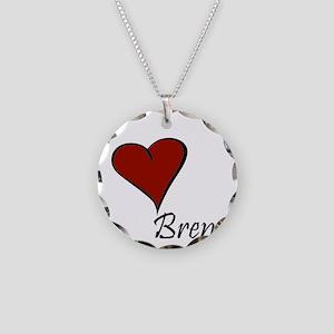 I love Brenda Necklace Circle Charm