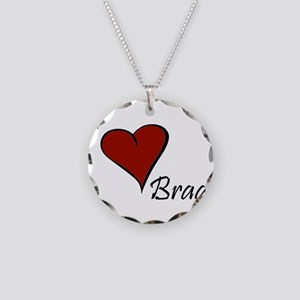 I love Brady Necklace Circle Charm