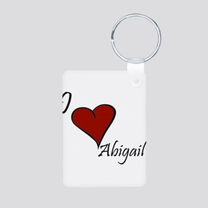I love Abigail Aluminum Photo Keychain