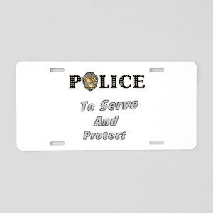 Police Service Aluminum License Plate