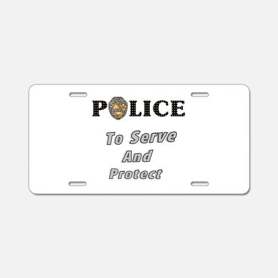 Police Service Aluminum License Plate