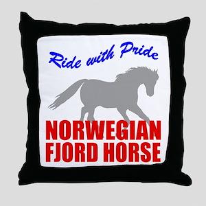 Pride Norwegian Fjord Horse Throw Pillow