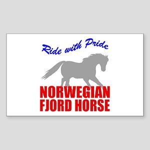 Pride Norwegian Fjord Horse Rectangle Sticker
