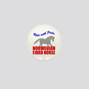 Pride Norwegian Fjord Horse Mini Button