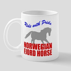 Pride Norwegian Fjord Horse Mug