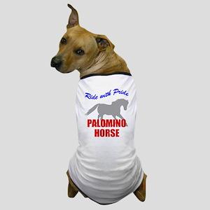 Ride With Pride Palomino Horse Dog T-Shirt