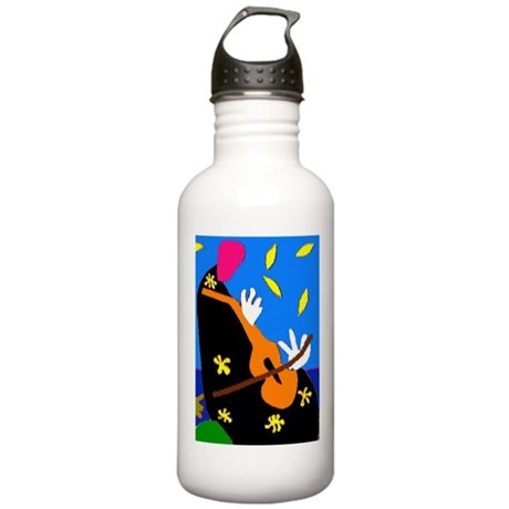 Abstract Cello, or Violin Stainless Water Bottle 1