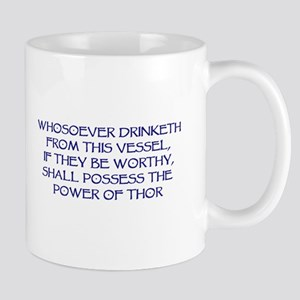 thor drink blue Mugs