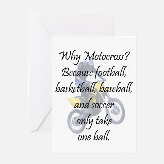 Why Motocross? Greeting Card