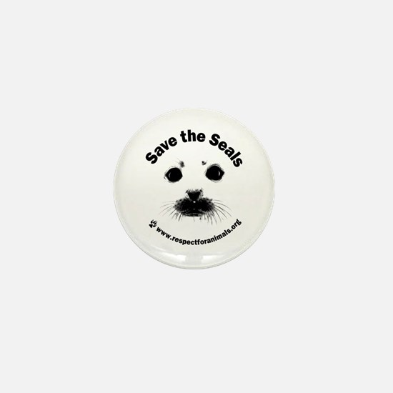 Mini Save the Seals Button (10 pack)