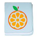 Orange baby blanket