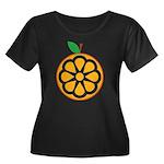 Orange Women's Plus Size Scoop Neck Dark T-Shirt
