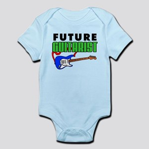 Future Guitarist Blue Guitar Infant Bodysuit