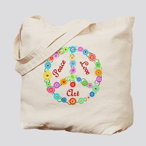Peace Love Art Tote Bag