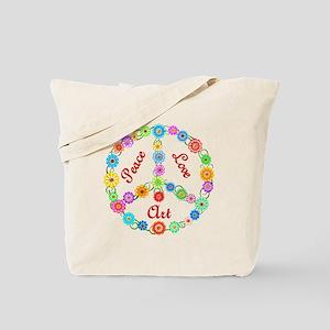 Peace Love Art Tote Bag