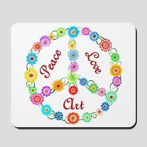 Peace Love Art Mousepad