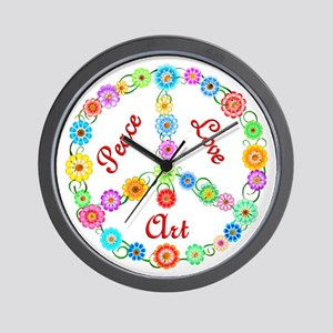 Peace Love Art Wall Clock