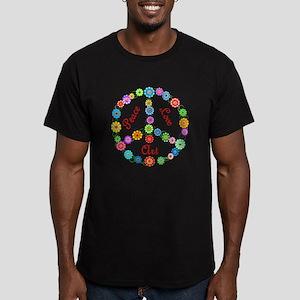 Peace Love Art Men's Fitted T-Shirt (dark)