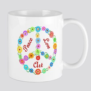 Peace Love Art Mug