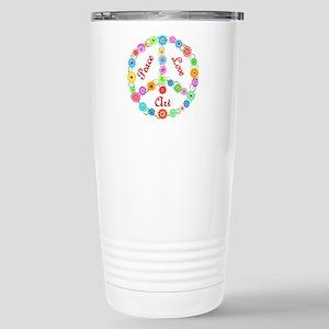Peace Love Art Stainless Steel Travel Mug