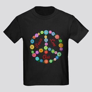 Peace Love Art Kids Dark T-Shirt
