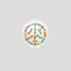 Peace Love Art Mini Button