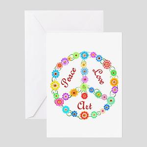 Peace Love Art Greeting Card