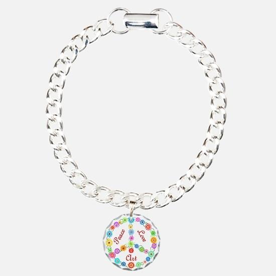Peace Love Art Bracelet