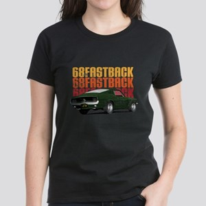68 Fastback Distress Women's Dark T-Shirt